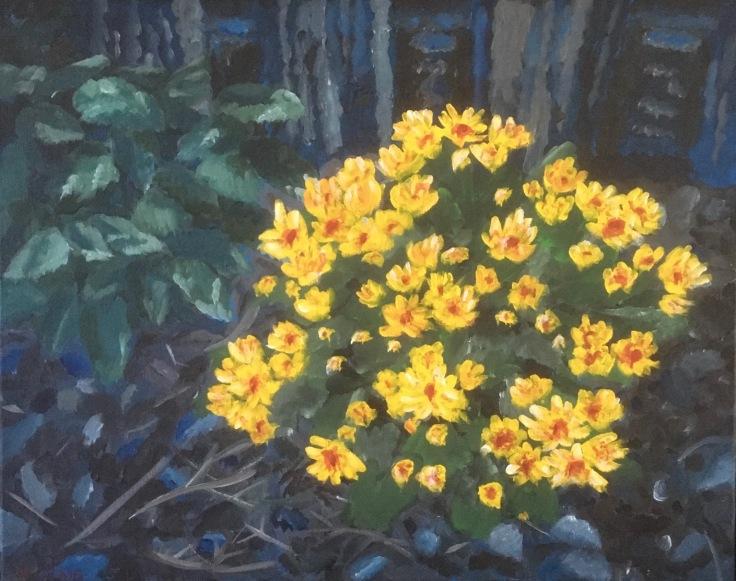 flower bush painting
