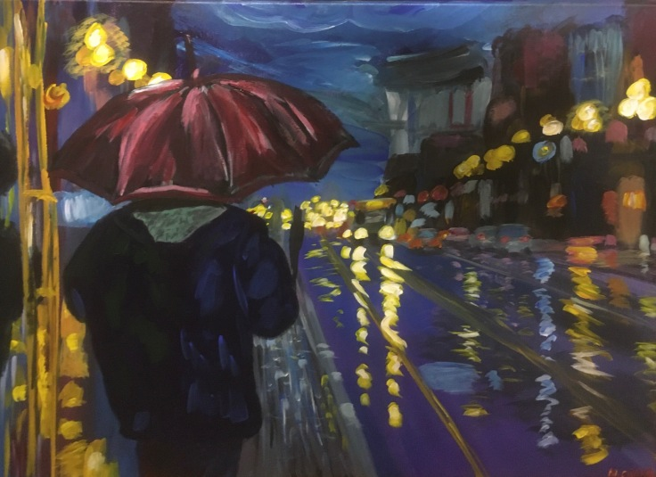 umbrella painting 1