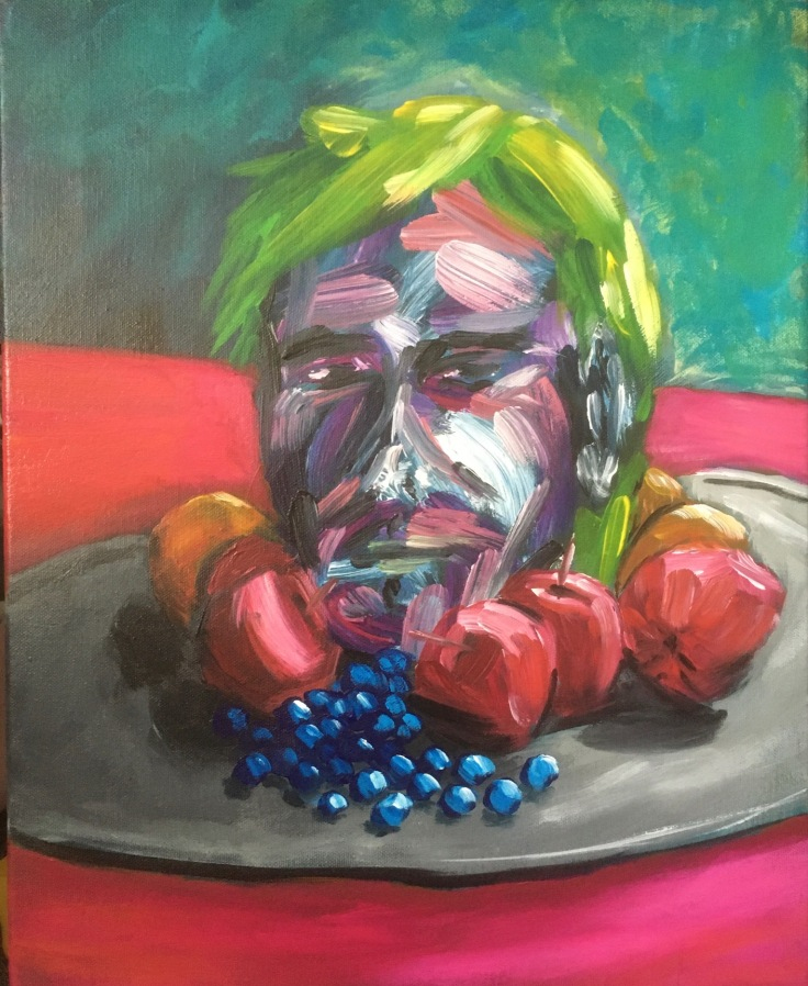head on a platter painting